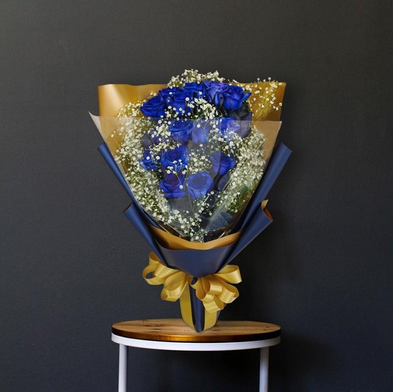 ブルーローズ 青薔薇の花束 20本