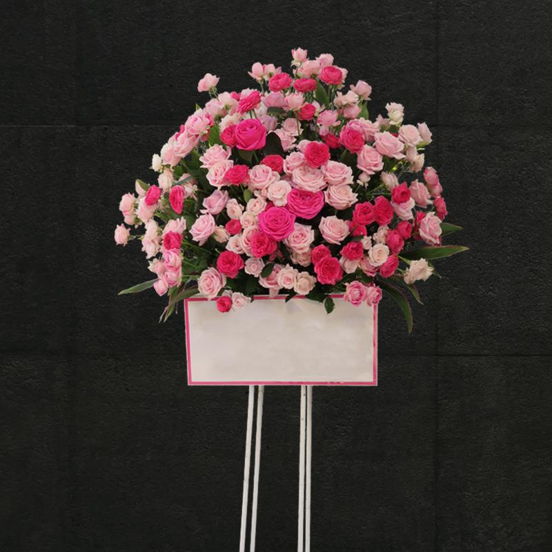 ピンクローズスタンド花