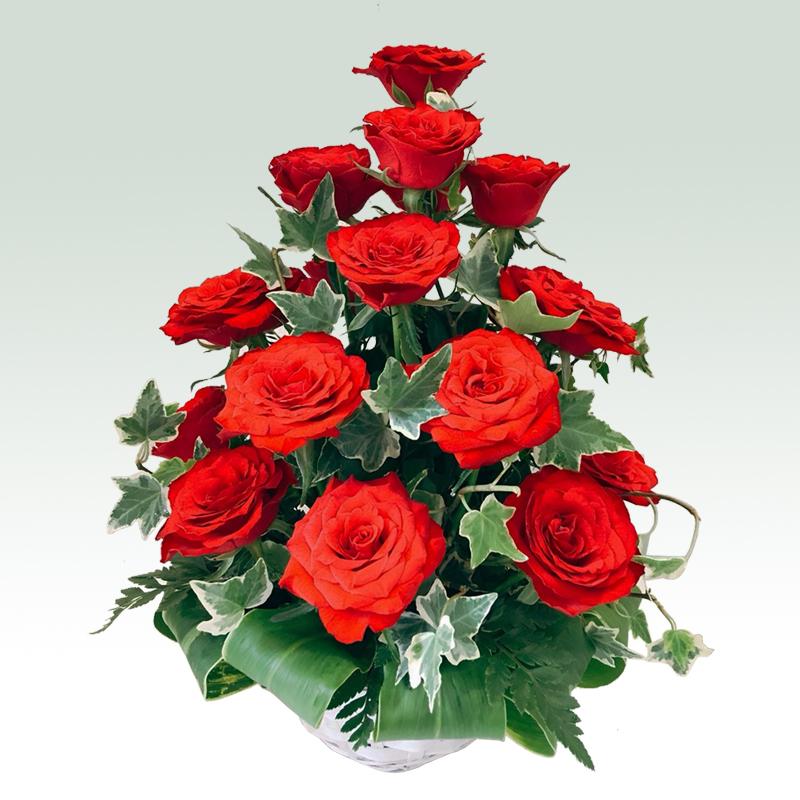 赤バラタワーアレンジメント