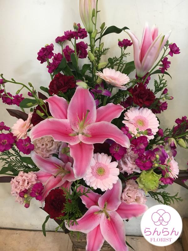 「おしゃれなスクエアスタンド花」を商品追加しました
