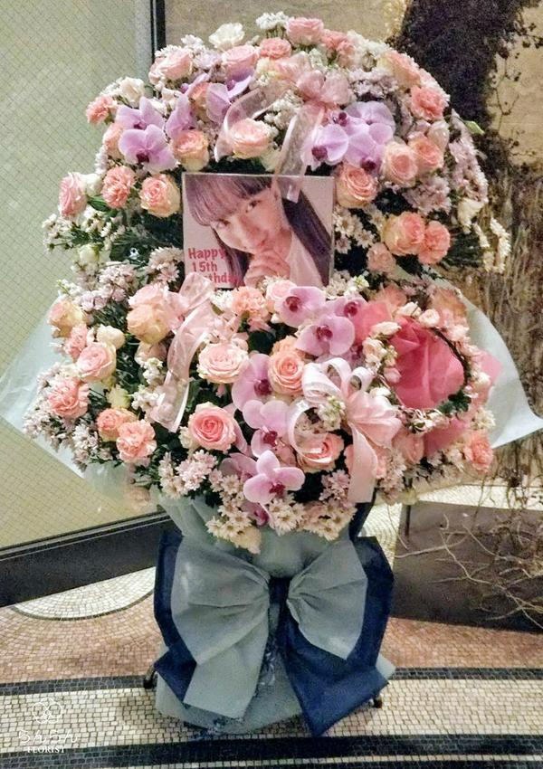 HKT48 今村麻莉愛様へお祝いスタンド花を納品しました[公演祝い花]