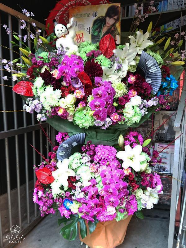 LEZARD様へお祝いスタンド花を納品しました[公演祝い花]