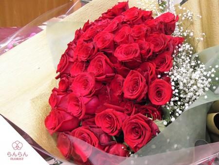 プロポーズ プレミアムローズ 大輪薔薇 バラの花束 赤 108本【全国配送】