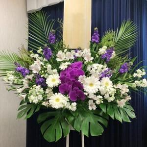 [供花]1段スタンド花(洋花おまかせ)【全国配送】