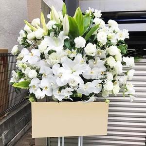 【福岡限定】ホワイト系スタンド花[自社配達]