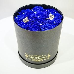 【ABCフラワーオリジナル】BUTTERFLIES ローズボックス  ブルー