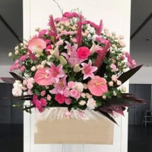【福岡限定】ピンク系スタンド花[自社配達]