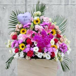 [追加注文用]スタンド花・アレンジメント用メッセージバルーン 小