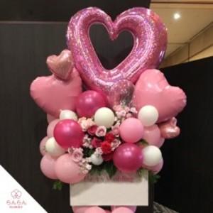 【福岡限定】ピンク系バルーンスタンド花[自社配達]