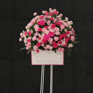 【福岡限定】ピンクローズスタンド花[自社配達]